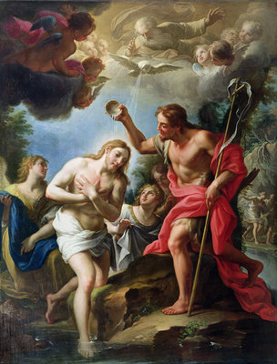The Baptism of Christ, 1723 by Francesco Trevisani - print