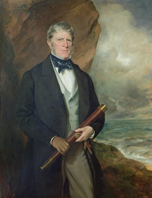 Portrait of Admiral Meynell by Sir Francis Grant - print