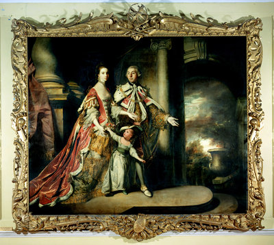 Earl and Countess of Mexborough, with their son Lord Pollington, 1761-64 by Sir Joshua Reynolds - print