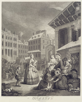 Times of the Day: Morning Poster Art Print by William Hogarth