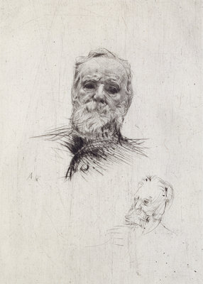 Portrait of Victor Hugo by Auguste Rodin - print