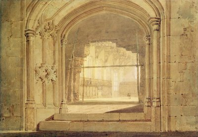 Christchurch Hall, Oxford, c.1800 by Joseph Mallord William Turner - print
