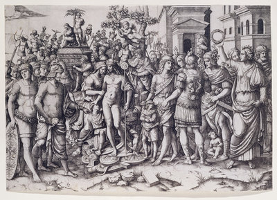 A Triumph by Marcantonio Raimondi - print