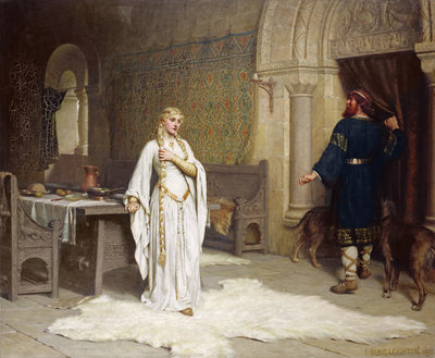 Lady Godiva, 1892 by Edmund Blair Leighton - print