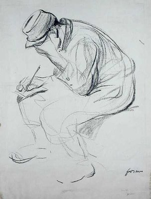 Soldier Writing by Jean Louis Forain - print