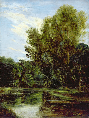 Fine Art Print of Corner of Hampstead Ponds by John Constable