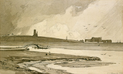 Blakeney Church and Wiveton Hall, 1818 by John Sell Cotman - print
