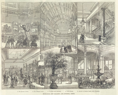 Opening of Leeds City Art Gallery in 1888, from the Illustrated London News by English School - print