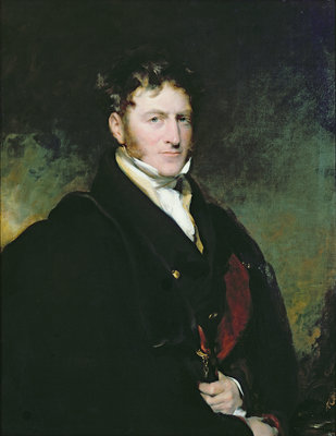 Portrait of Sir John Beckett by Sir Thomas Lawrence - print