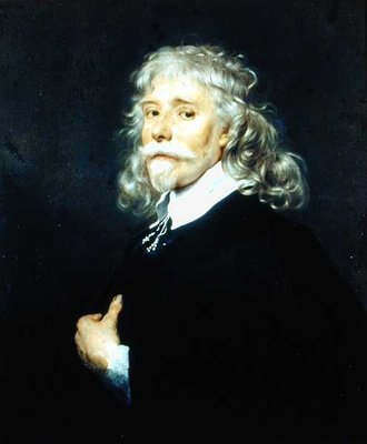 Portrait of a Man with Grey Hair by Adriaen Hanneman - print
