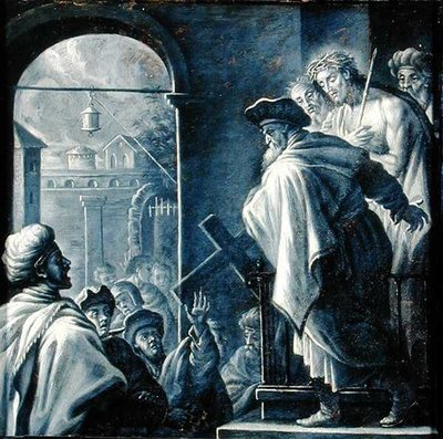 Christ Presented to the People by French School - print