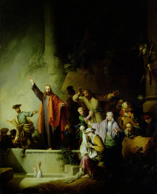 The Raising of Lazarus by Christian Wilhelm Ernst Dietrich - print
