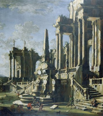 Imaginary Ruins by Leonardo Coccorante - print