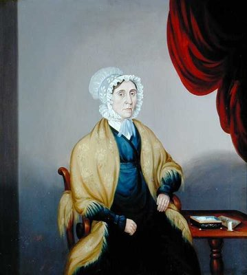 Portrait of Mrs Elizabeth Whitely by English School - print