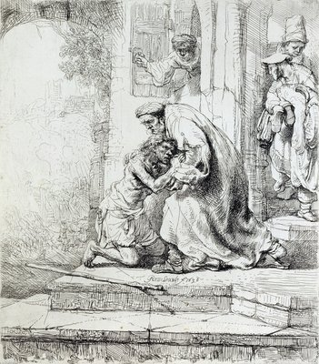 Return of the Prodigal Son by Rembrandt Harmensz. van Rijn - print