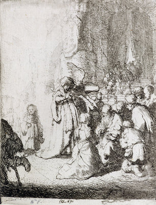 Fine Art Print of Presentation in the Temple by Rembrandt Harmensz. van Rijn