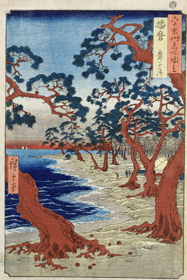 Coast of Maiko, Harima Provine by Ando or Utagawa Hiroshige - print