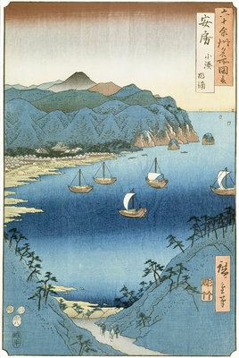 Kominato Bay, Awa Province by Ando or Utagawa Hiroshige - print