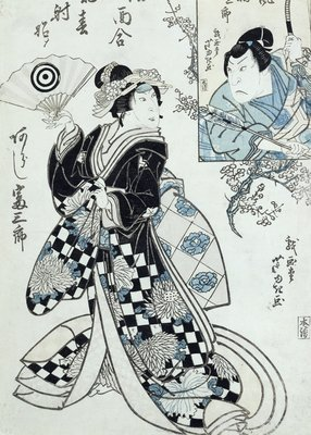 A Theatrical Scene by Ippyotei Ashiyuki - print