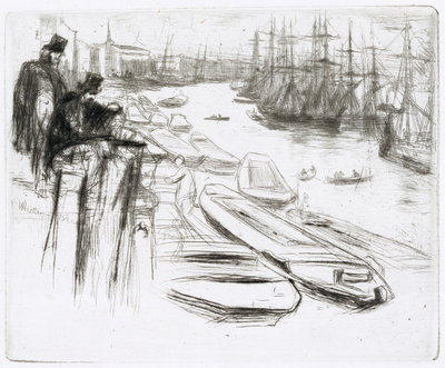 The Little Pool, No.1 by James Abbott McNeill Whistler - print