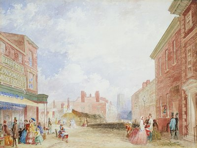 View of Kirkgate, Leeds, 1854 by Isaac Fountain - print