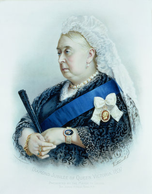 Diamond Jubilee of Queen Victoria by English School - print