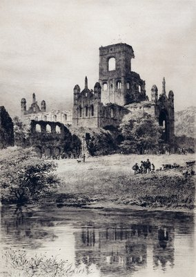 Kirkstall Abbey from the South-East, 1899 by Axel Haig - print