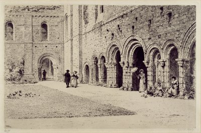 The Cloister, Kirkstall Abbey, 1893 by Axel Haig - print