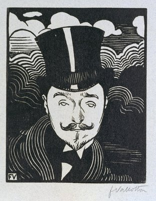 Portrait of Romain Coolus by Felix Edouard Vallotton - print