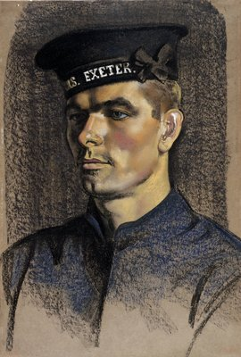 Stoker Gill of HMS Exeter by Eric Henri Kennington - print