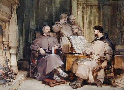 The Four Monks by George Cattermole - print