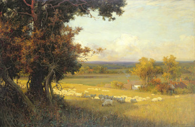 The Golden Valley by Sir Alfred East - print
