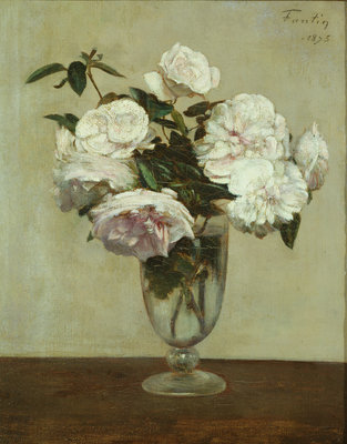 Pink Roses, 1875 by Ignace Henri Jean Fantin-Latour - print