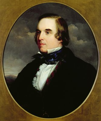Portrait of George Linley by Charles Henry Schwanfelder - print