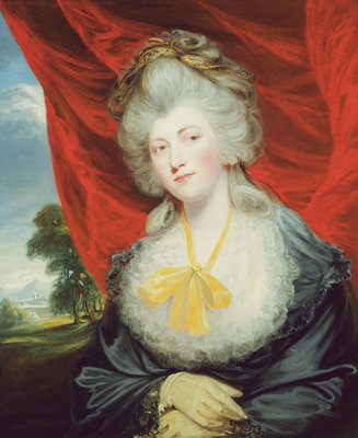 Portrait of the Hon. Isabella Ingram, later Marchioness of Hertford by John Hoppner - print