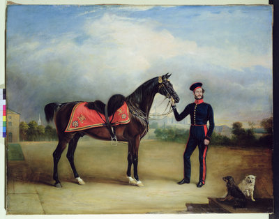 Thomas Oliver Gascoigne of the Royal Horse Guards by English School - print