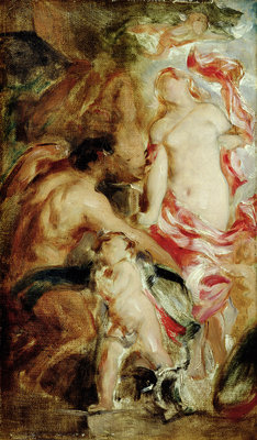 Allegorical Study, A Sketch by William Etty - print