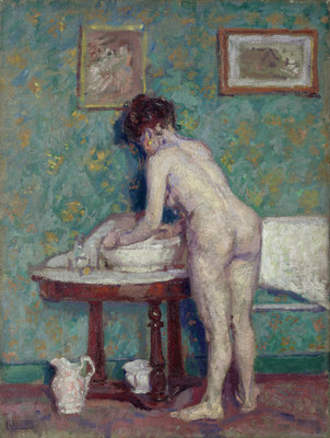 Interior with Nude by Spencer Frederick Gore - print