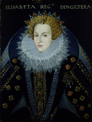 Portrait of Queen Elizabeth I by John the Elder Bettes - print
