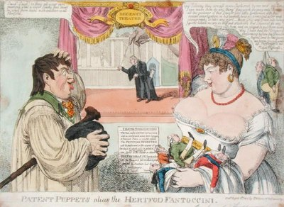 Patent Puppets alias the Hertfod Fantoccini, 1812 by C. Williams - print