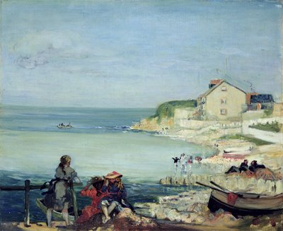 Beach Scene, Swanage by Charles Edward Conder - print