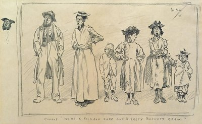 Rickety, Rackety Crew, 1895 by Philip William May - print