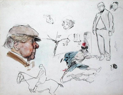 Studies, c.1894 by Philip William May - print