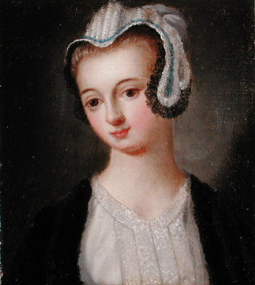 Portrait of Faith Hardwick by English School - print