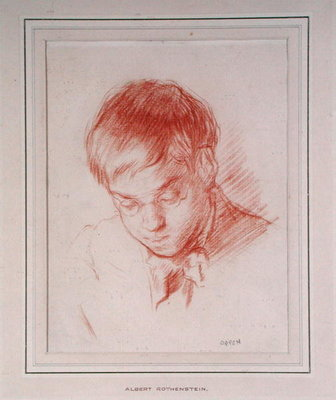 Portrait of Albert Rothenstein by Sir William Orpen - print
