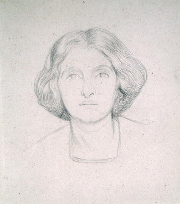 Portrait of Mrs Max Beerbohm, 1915 by Sir William Rothenstein - print