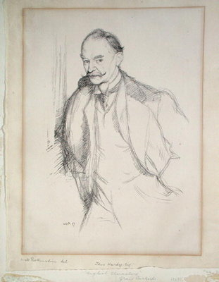 Portrait of Thomas Hardy by Sir William Rothenstein - print