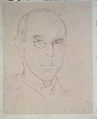 Self Portrait, 1916 by Sir William Rothenstein - print