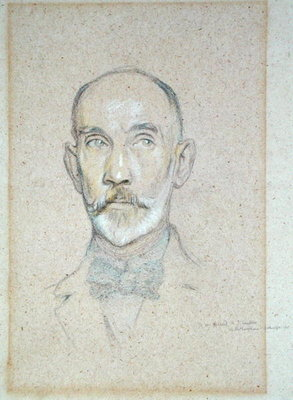 Portrait of A.J. Sanders, 1915 by Sir William Rothenstein - print