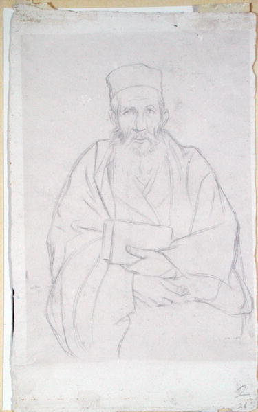 A Rabbi, 1912 by Sir William Rothenstein - print